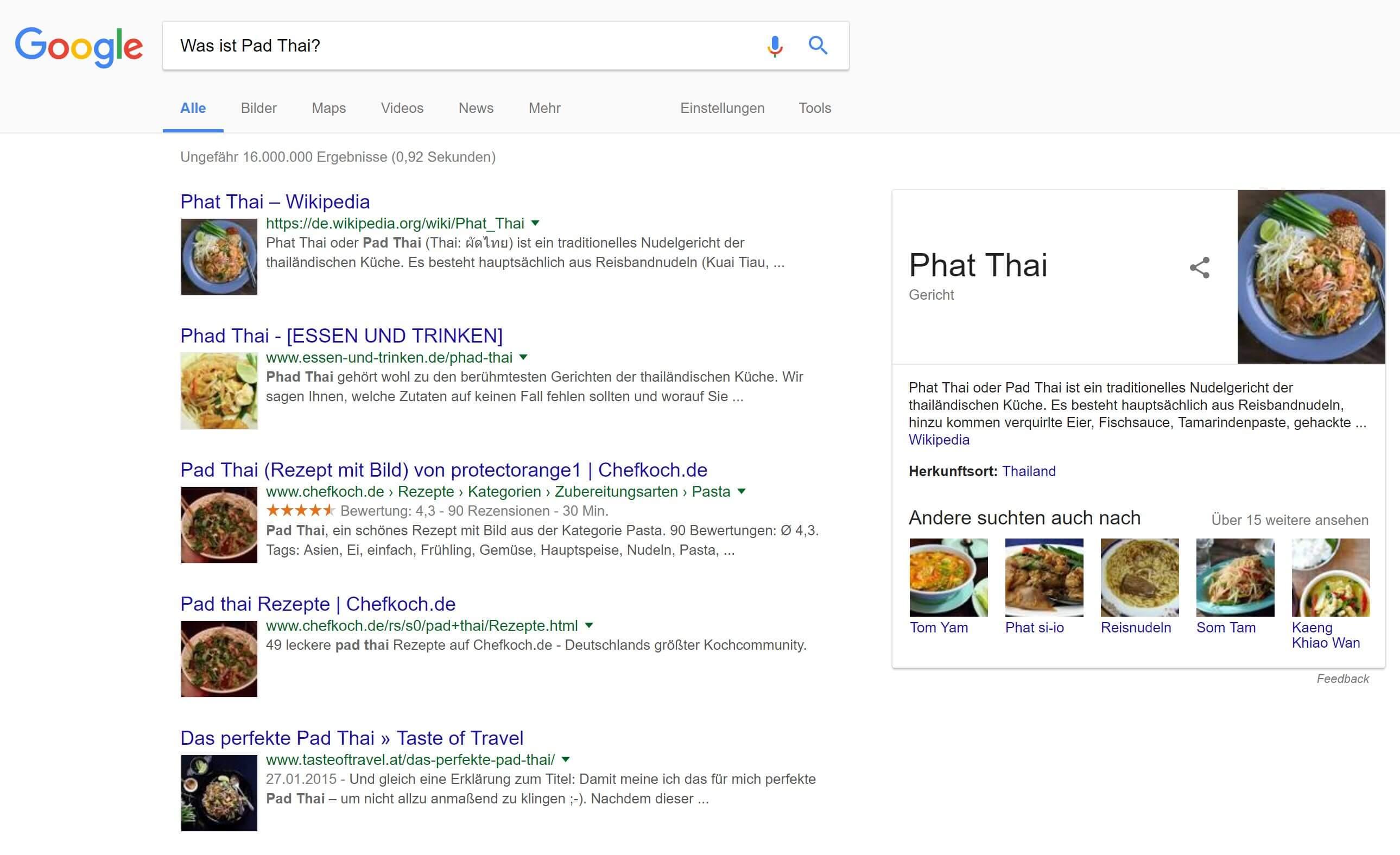 google was ist pad thai
