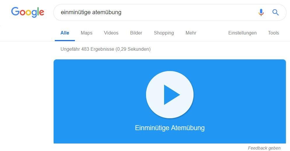 google websuche atemübung