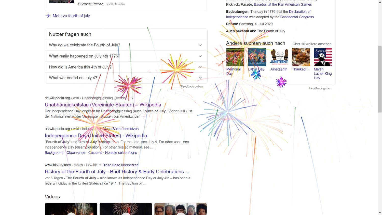 google websuche feuerwerk