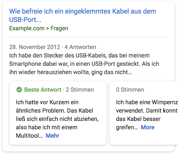 google websuche qa