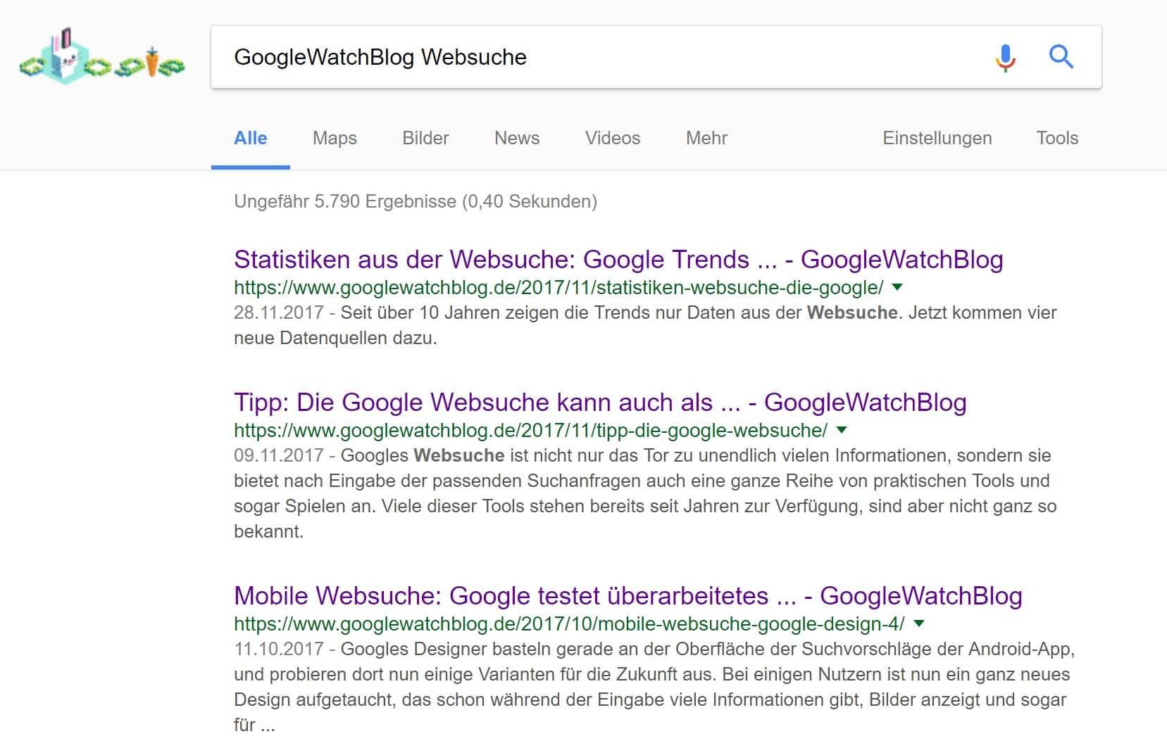google websuche snippets