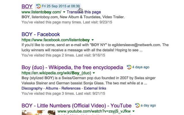 google when