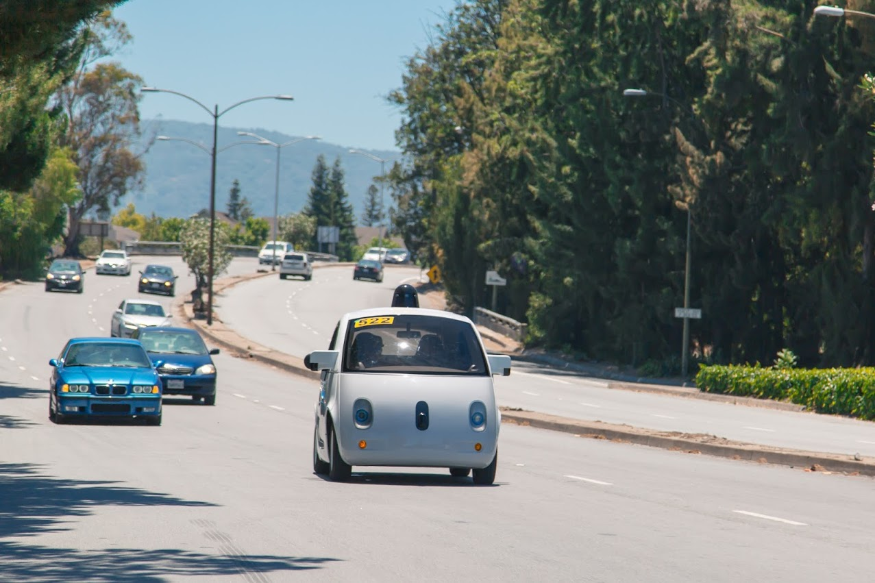 googlecar on the road