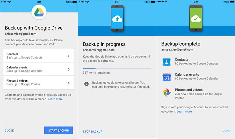 Google Drive Backup
