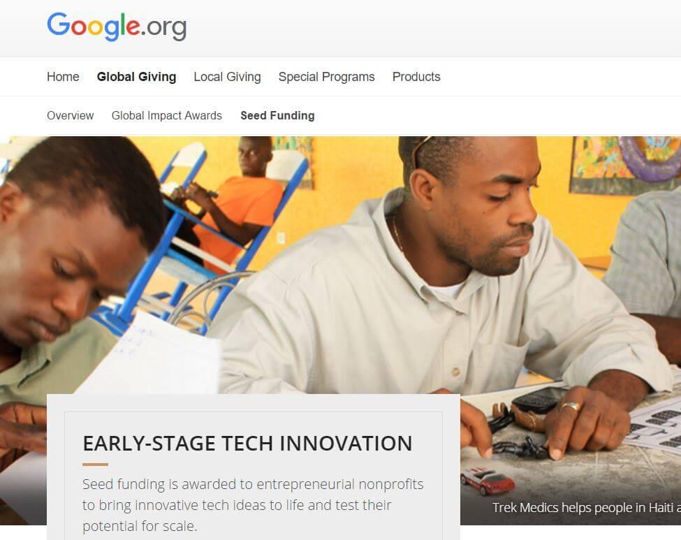 Google.org Spende