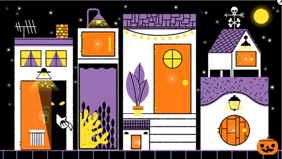 halloween doodle 2019 house