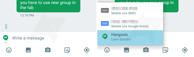 hangouts sms switch