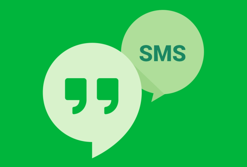 hangouts sms