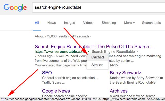 https google cache