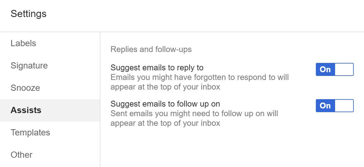inbox assists