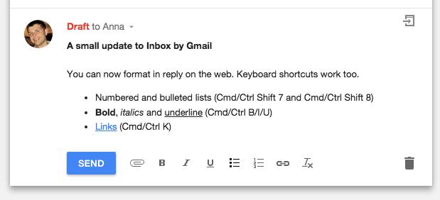 inbox format