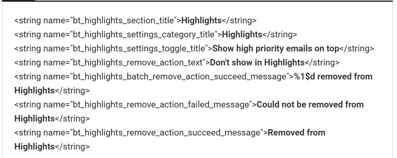 inbox highlights