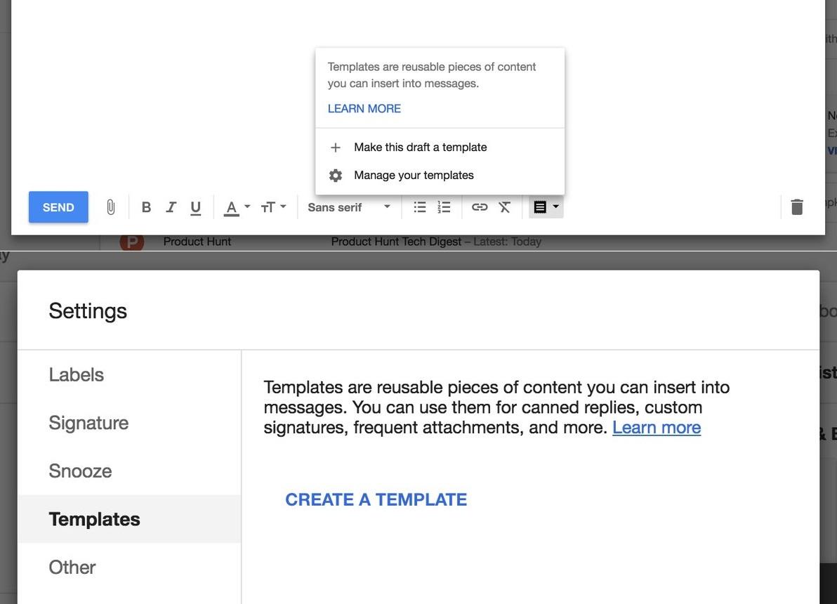 Templates sparen Tipparbeit: Google Inbox hat jetzt eine Vorlagen ...