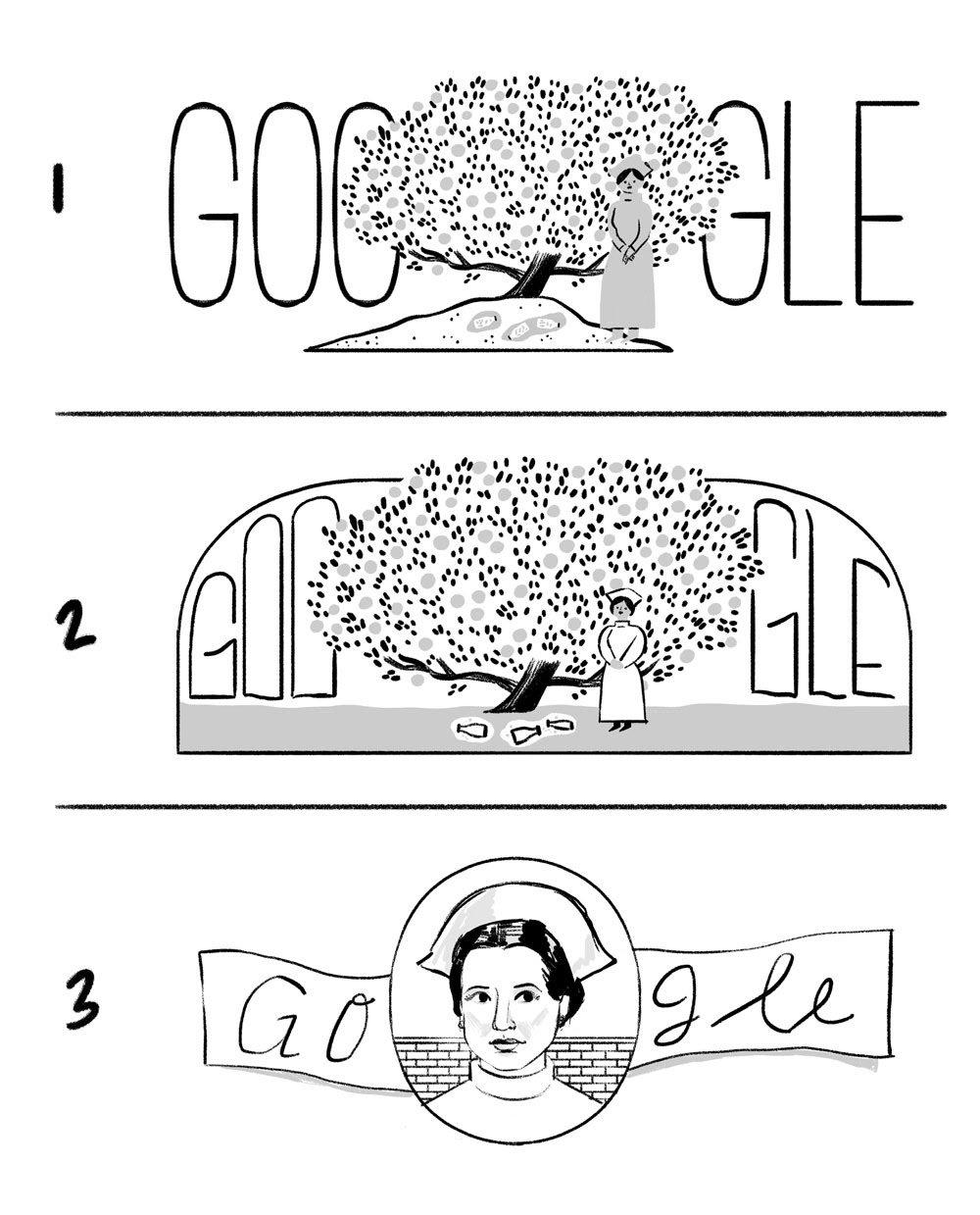 irena sendler 110 geburtstag google-doodle entwurf 1
