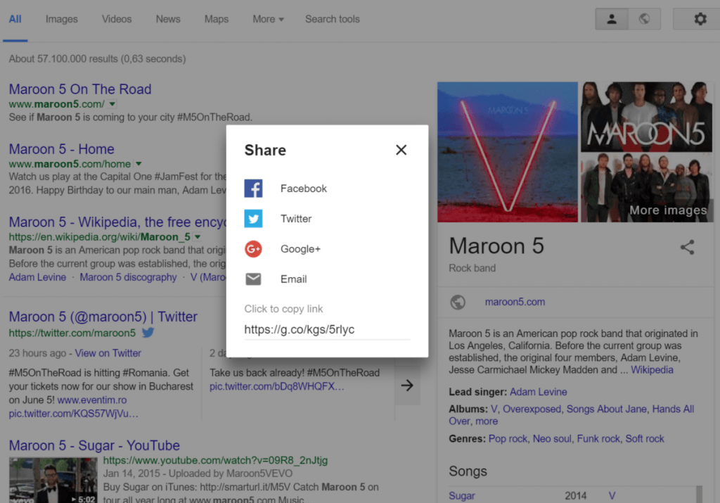 knowledge graph share
