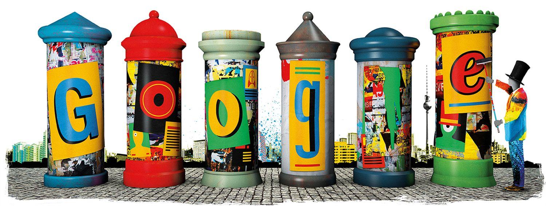 litfaßsäule google doodle