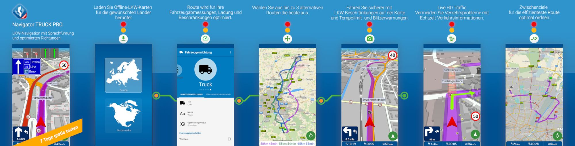 mapfactor navigator truck screenshots