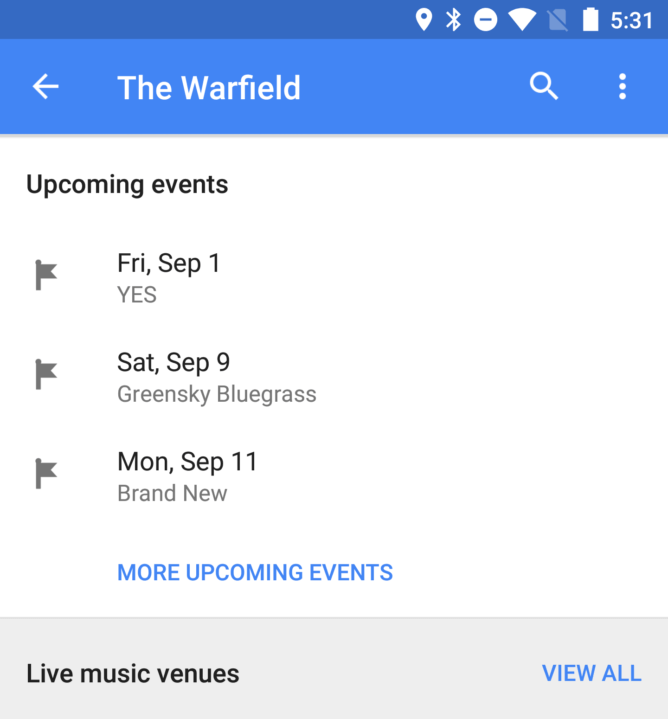 maps events