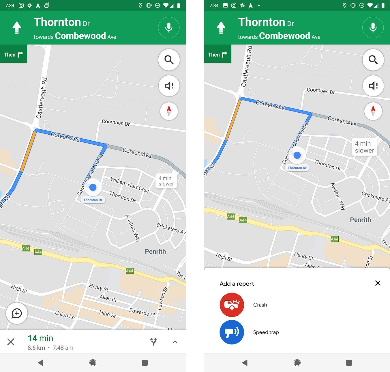 Google Maps: Verkehrsstörungen eintragen.