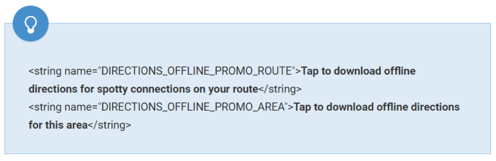 maps route offline
