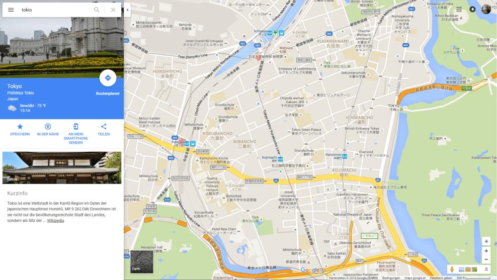 Mehr Informationen auf der Karte: Google Maps testen mehr Kategorien ...