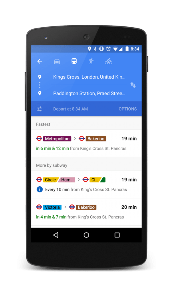maps transit