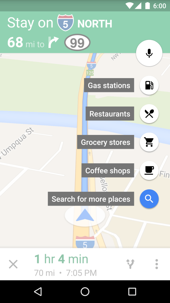 maps zwischenstopp