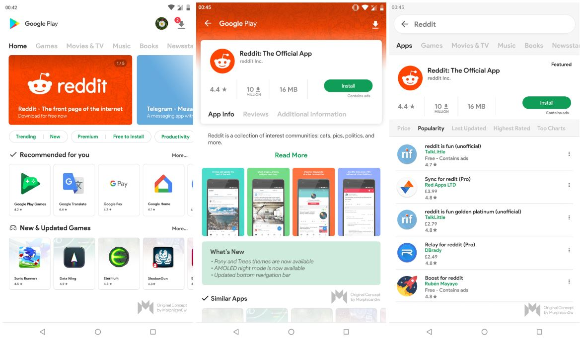 material design 2 play store