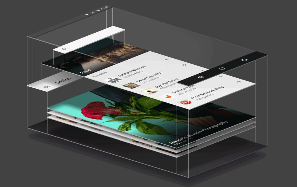 material design layer