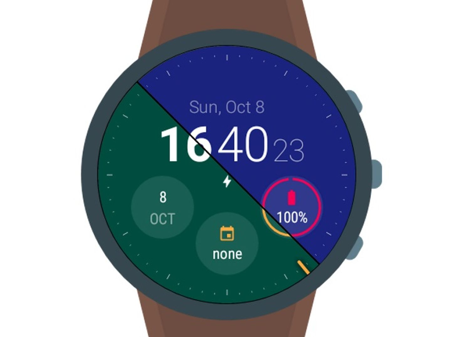 material style watch face cover
