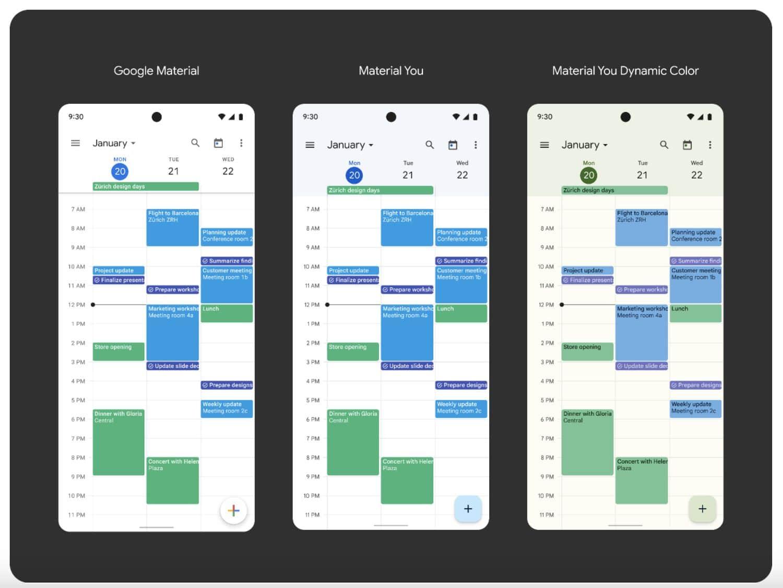 material you kalender
