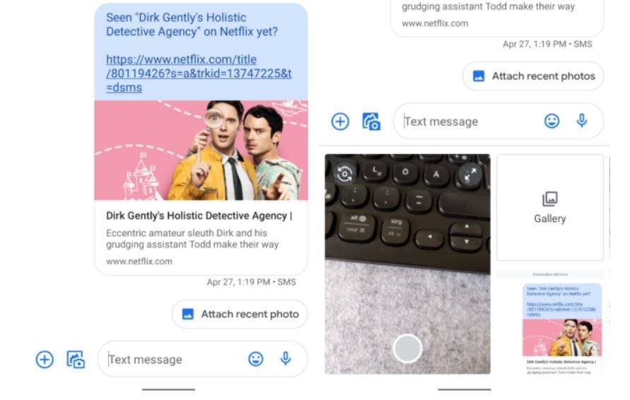 messages recent photo