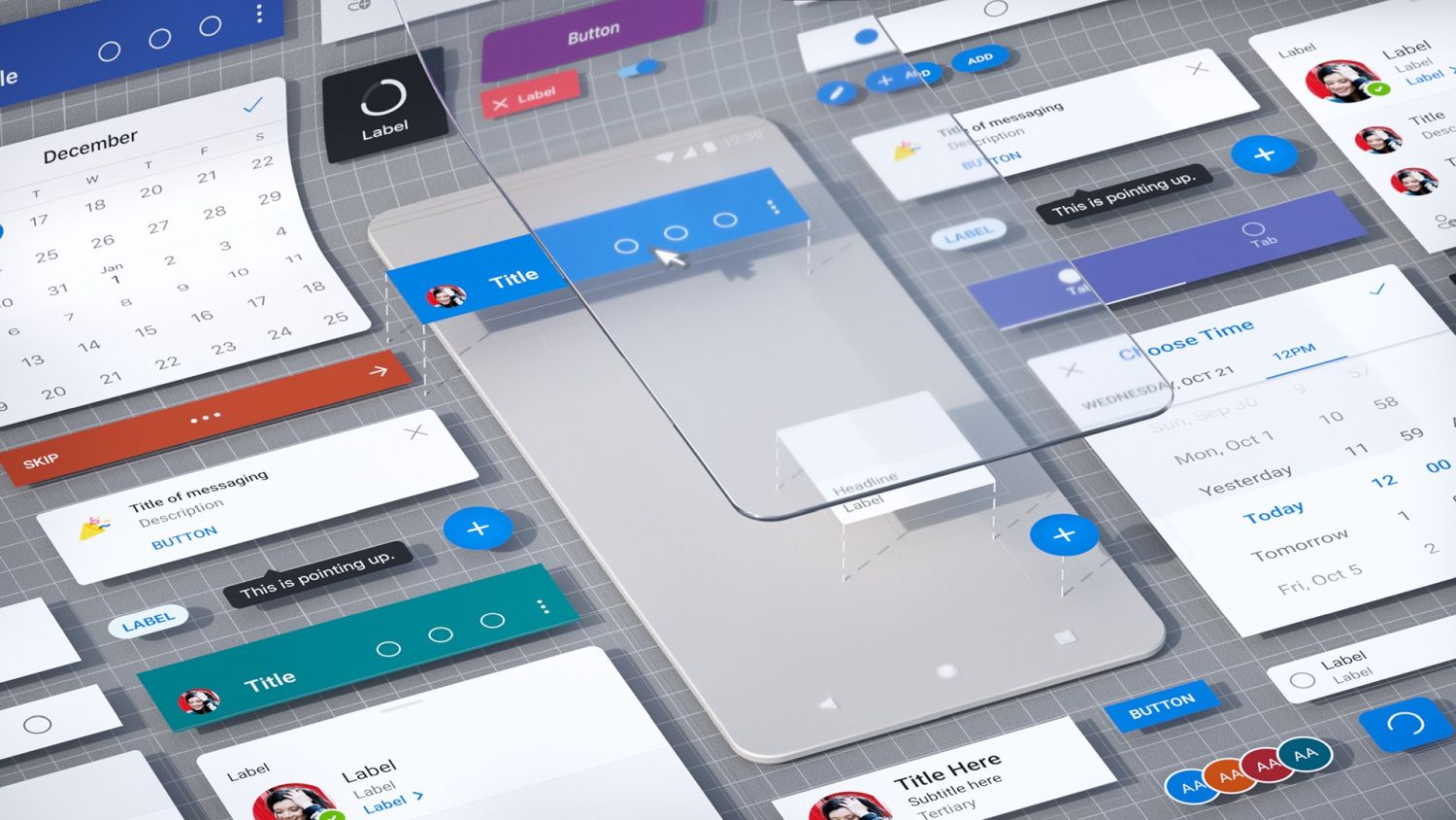 microsoft fluent design screens