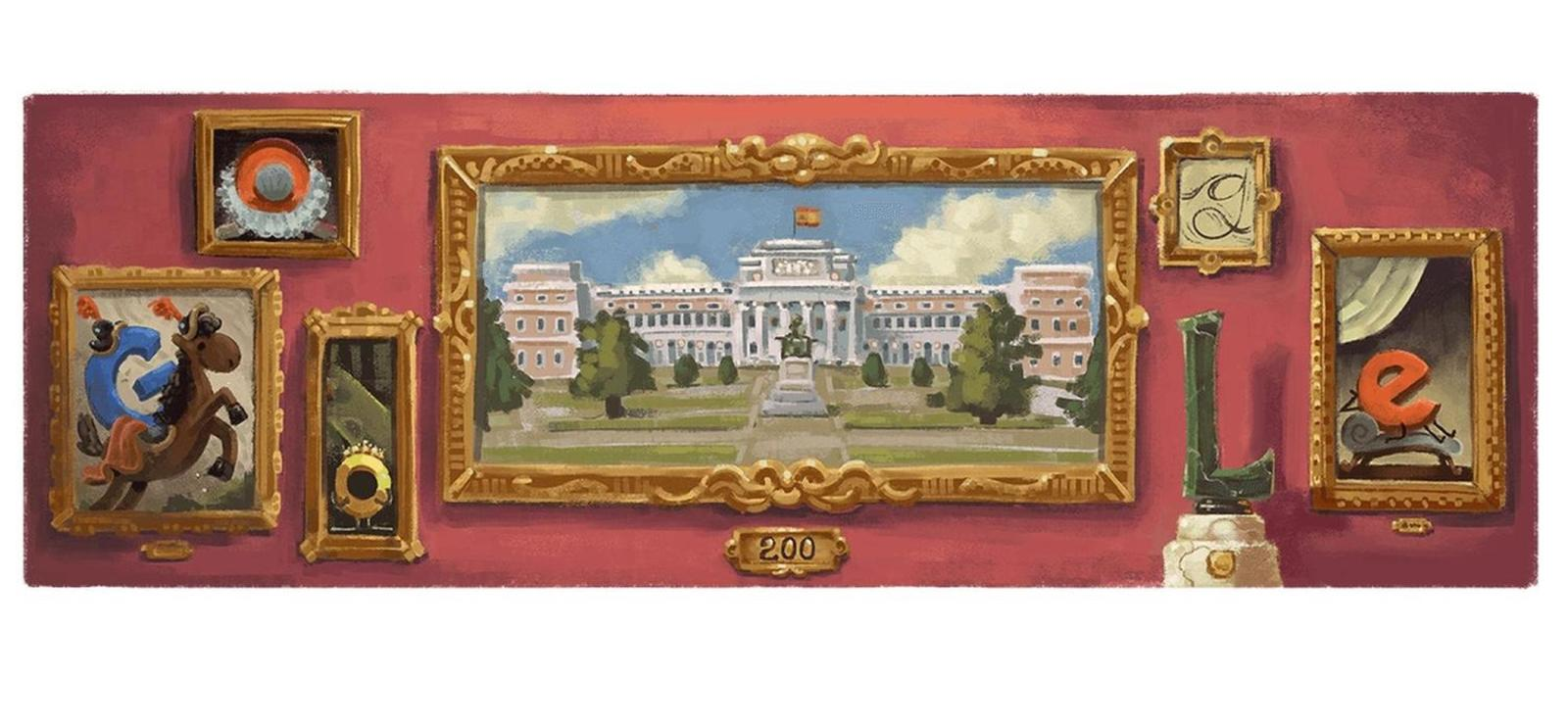 museo del prado 200 jahrestag google doodle