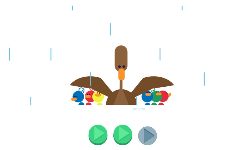 muttertag google doodle enten