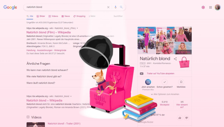 natürlich blond google easteregg pink