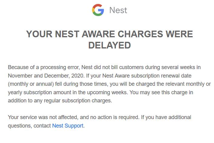 nest aware abo nachzahlung