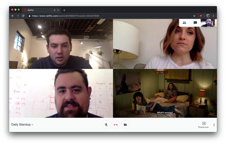 netflix hangouts screenshot