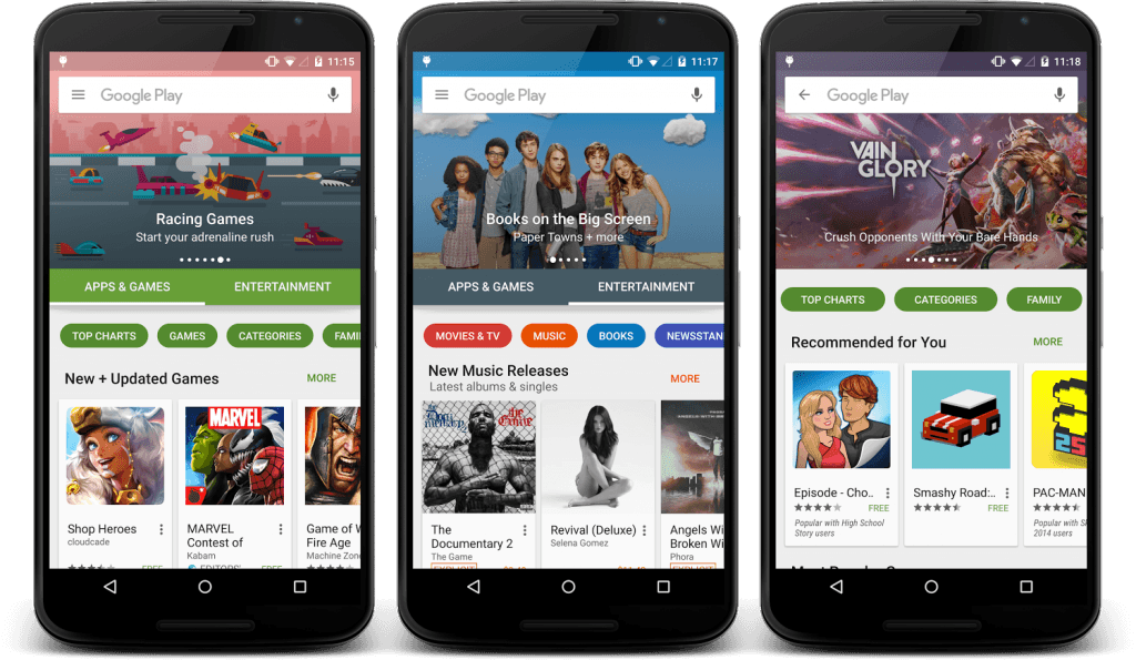 new play store