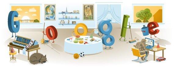 Google Doodle Neujahr 2013