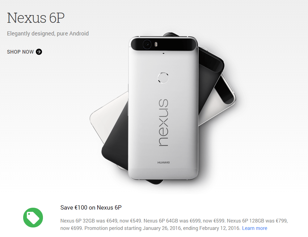 nexus 6p aktion