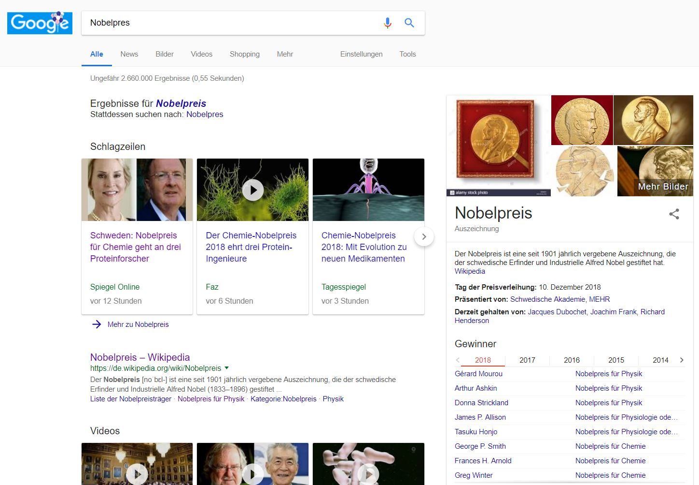 nobelpreis knowledge graph