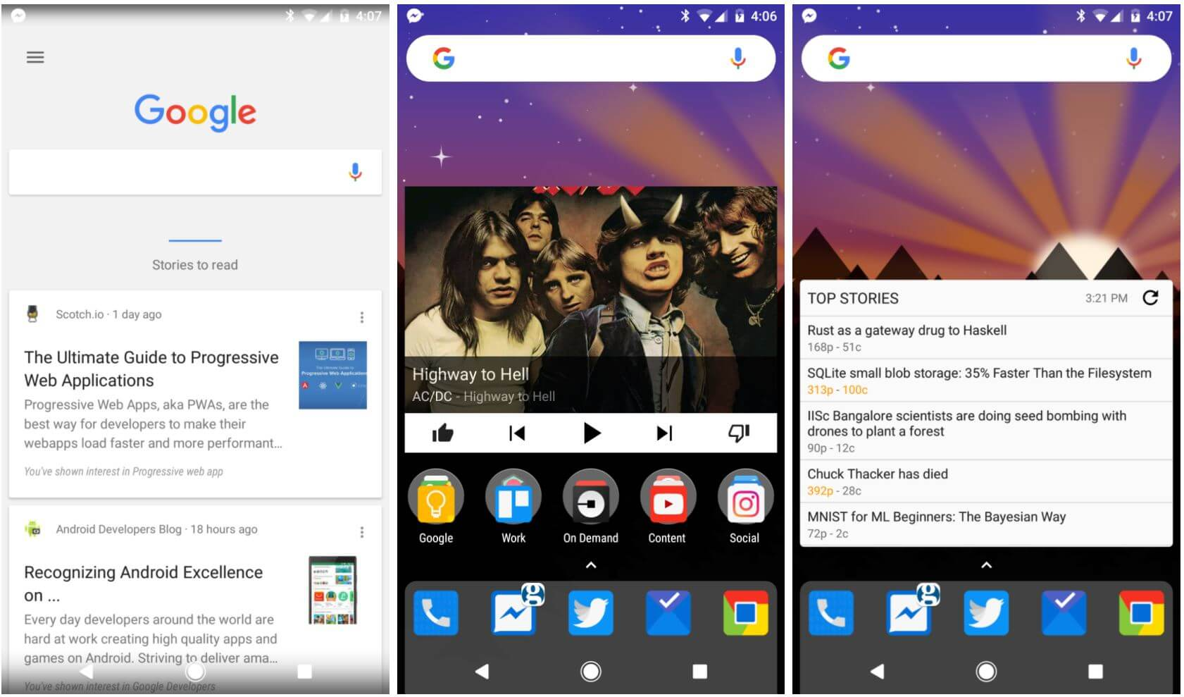 nova launcher google now