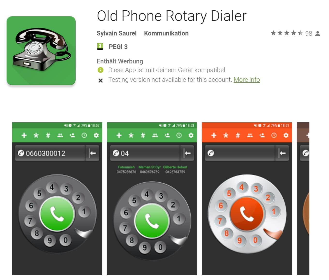 Old Phone Rotary Dialer