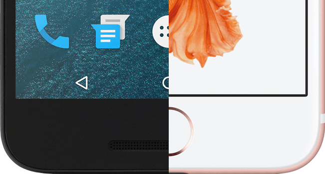 on screen buttons