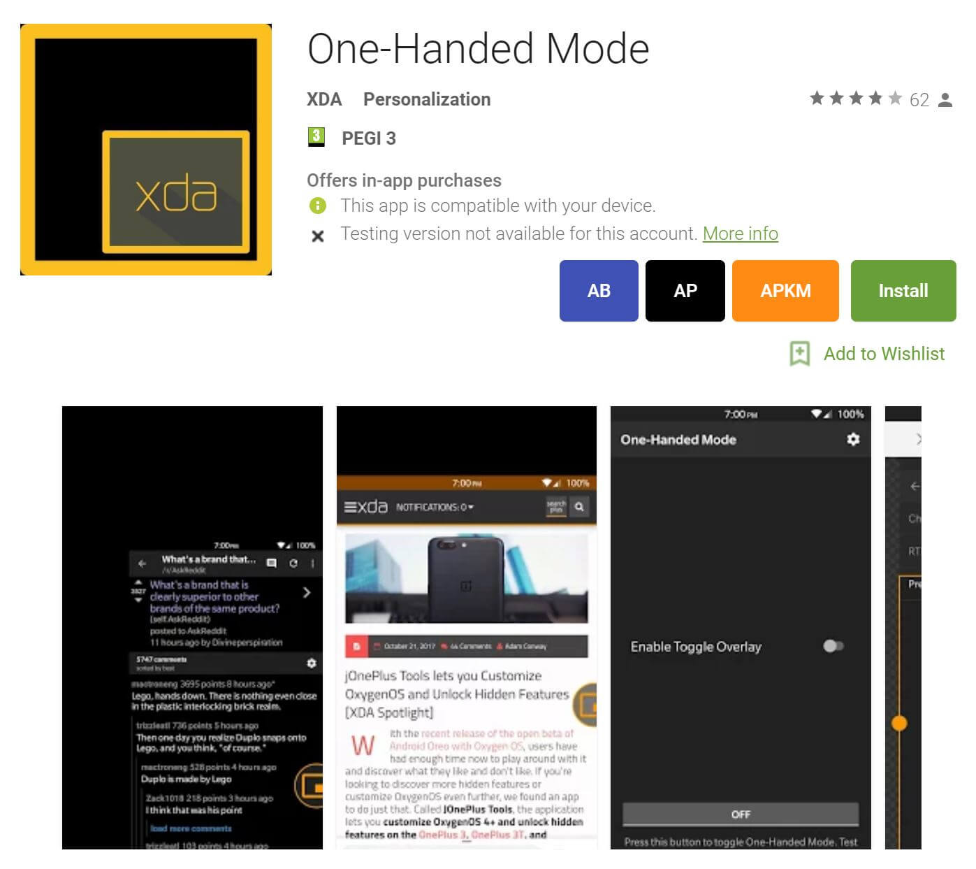 one handed mode