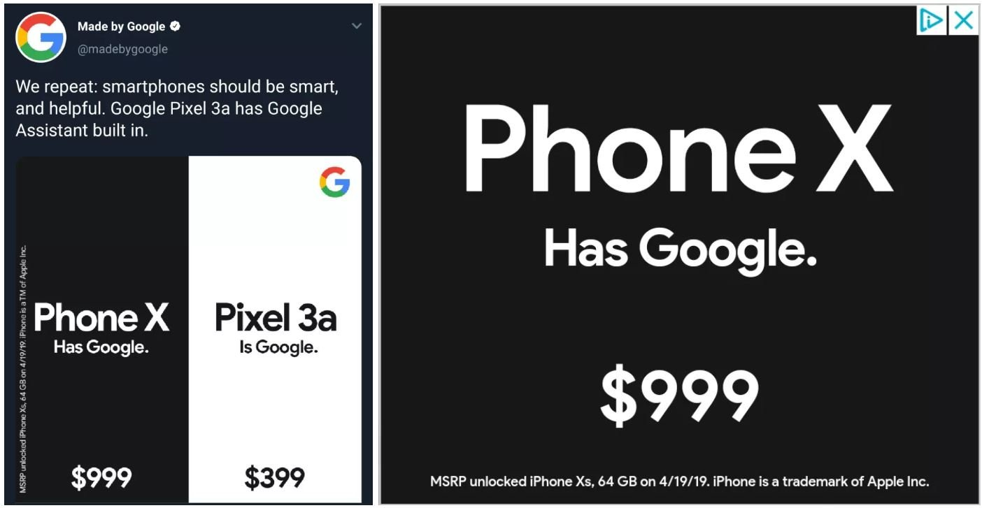 phone x has google pixel is google