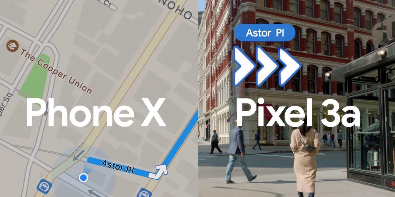 phone x pixel 3a google maps ar