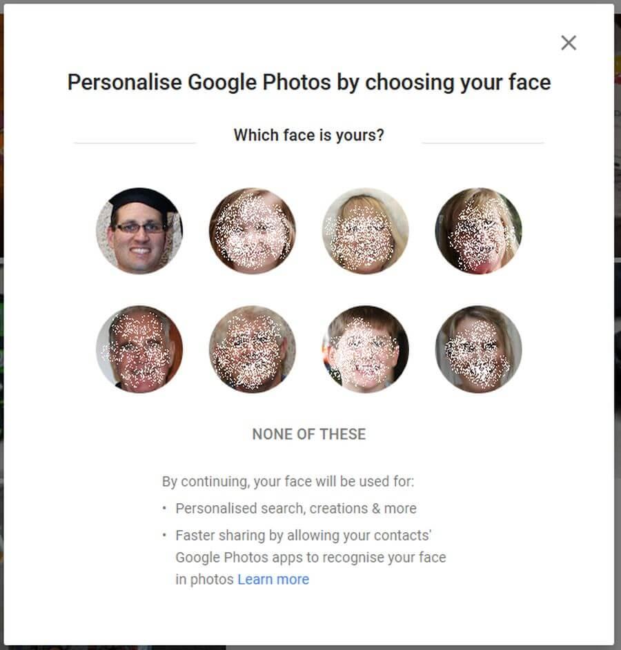 Google Photos Personalise