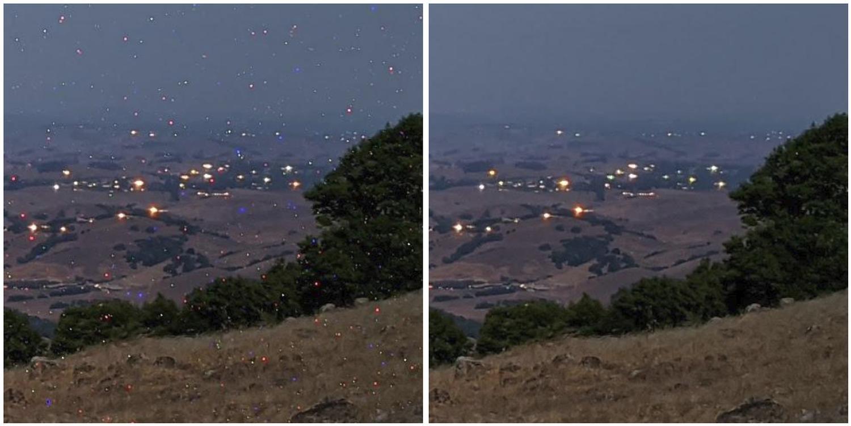 pixel 4 astro hot pixels